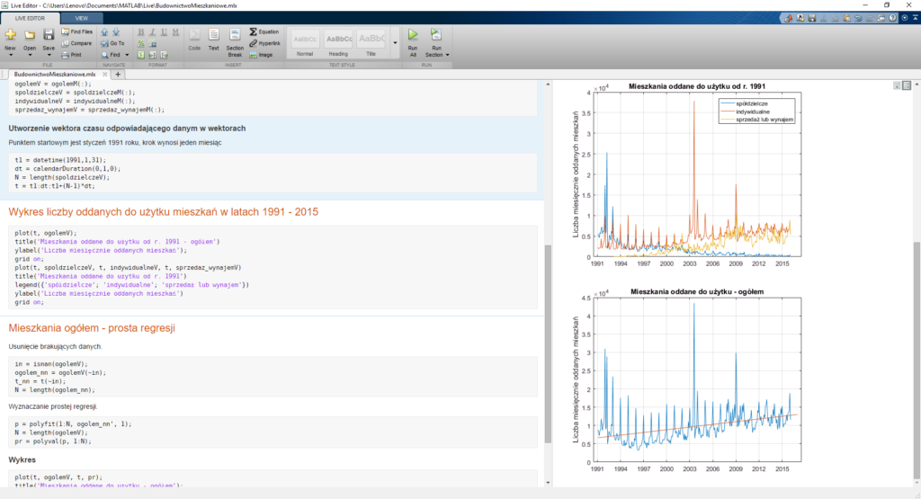 LiveScript - wykresy