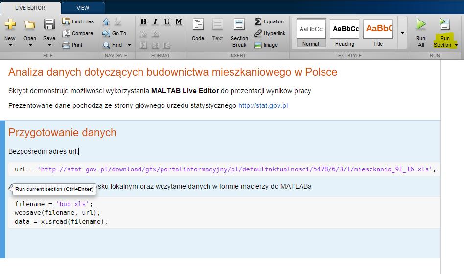 LiveScript - edycja kodu